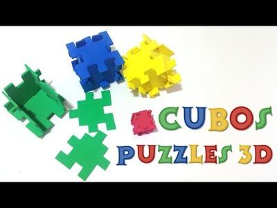 DIY puzzles 3D, juego de lógica cubos de goma EVA - Coco Crush - Happy Cubes