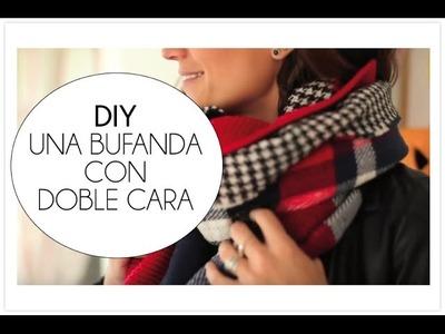 DIY una bufanda de doble cara