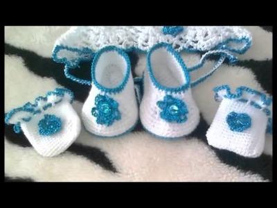 Escarpines Tejidos a Crochet para Nenes Varones