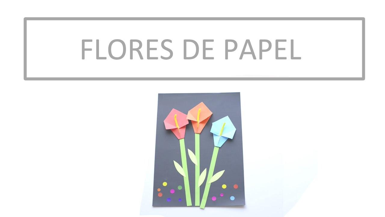 Manualidad: Flores de papel. Craft: Paper flowers