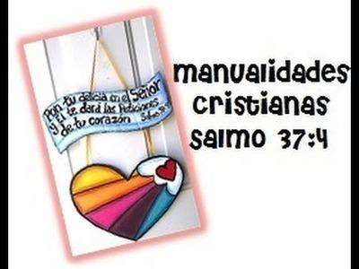 Manualidades Cristianas, Letrero en cartón, Salmo 37:4