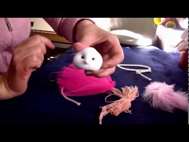 Muñecos Soft.  hadita con alas de plumas 1.2 proyecto 30