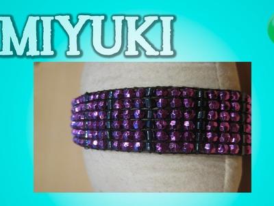 Pulsera brillante de fiesta | Miyuki | Tutorial | DIY
