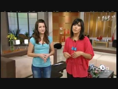 Silvia Mijangos realiza un colgante de Mariposa con arcilla polimérica, utilisima, bien simple