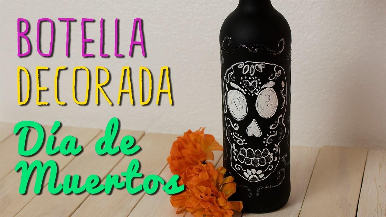 Botella Decorada - Manualidades para día de Muertos.Halloween - DIY | Catwalk