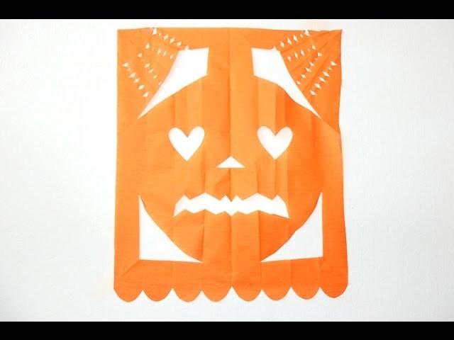 Calabaza de papel picado