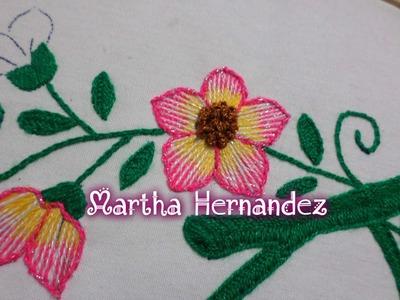 Como Bordar Flor Pequeña en 3 Colores Bordado Fantasia