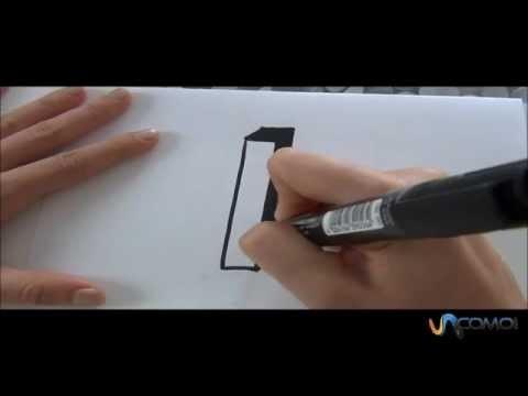 Cómo hacer la letra I en 3D - How to make the letter I in 3D