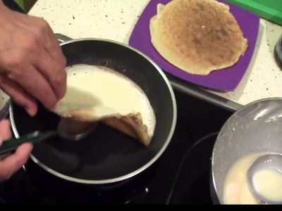 Como hacer panqueques con manjar            dulces  salados y otros