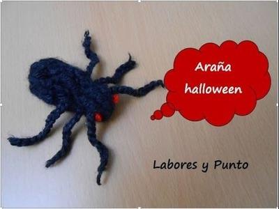 Como tejer una araña para decorar en Halloween hecha a ganchillo o crochet