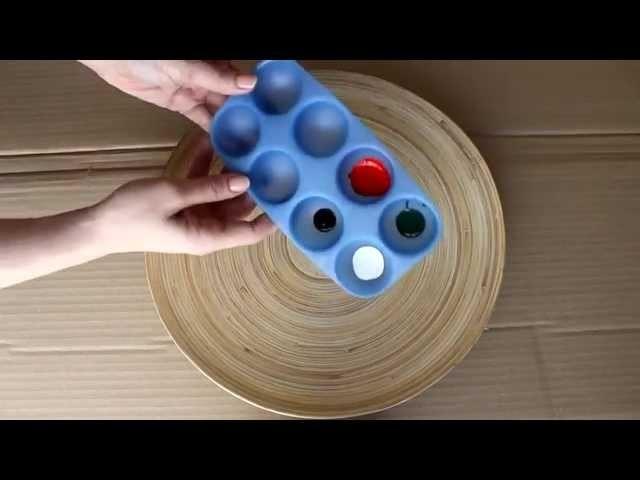 DIY Ideas: pintar una bandeja-sandía (manualidades fáciles)