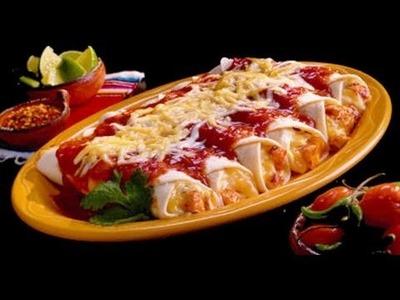 Enchiladas de Papa con Chorizo. Receta de enchiladas. Comida mexicana