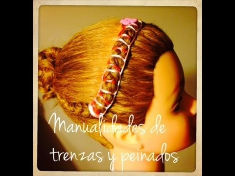 Encintado o Tejido en el Cabello Paso a Paso - Step by Step Ribbon Weave for Hair