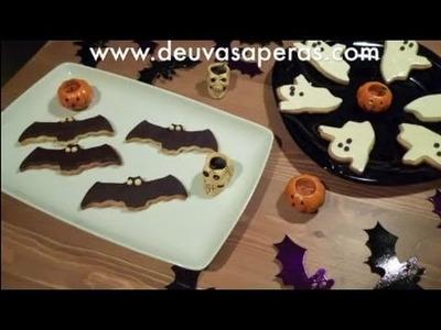 Recetas para Halloween - Galletas Fantasma y Murciélago