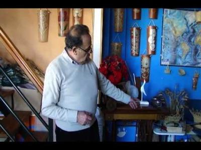 Artesanía de esparto, madera y  tejas