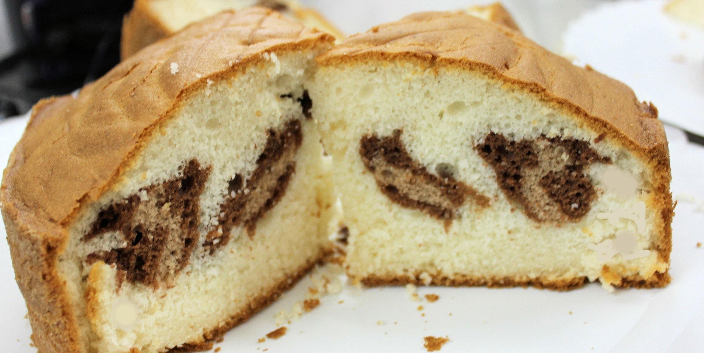 Bizcocho de leopardo. Leopard sponge cake
