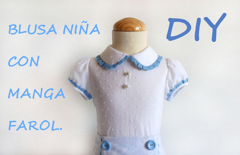 Como hacer una Blusa de niña con manga farol. En tienda.patronesmujer.com