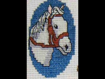 DIY Cómo bordar un caballo en punto de cruz