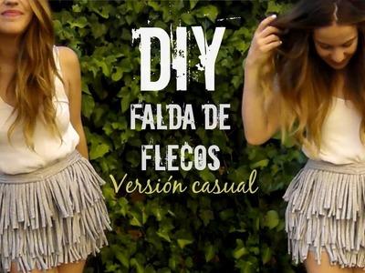 DIY falda de flecos versión CASUAL | Monica Beneyto