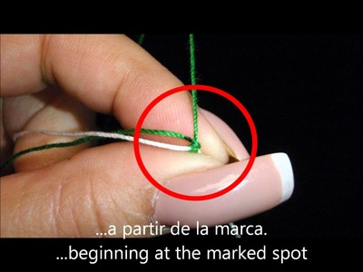 Frivolite-Tatting lesson 73 - predecir la cantidad de hilo - predict the amount of thread