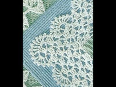 Gráficos para tejer puntilla con ondas a crochet