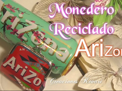 Monedero Reciclado con latas Arizona DIY.Tutorial: make a coin purse