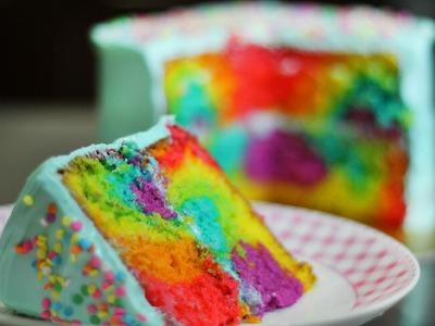 PASTEL ARCOÍRIS  (Rainbow Cake Tutorial)