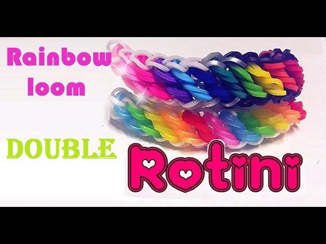 Pulsera de gomitas - Rainbow loom double rotini