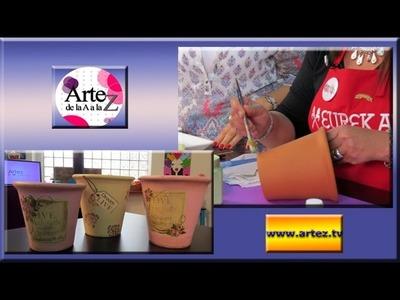 Aprende a pintar y decorar macetas