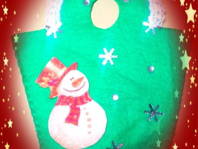 Bolsita de fieltro navideña super fácil