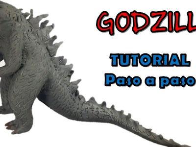 Como hacer a Godzilla de plastilina. How to make a Godzilla with clay