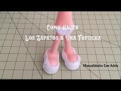 Como Hacer los Zapatos a Una Fofucha | Manualidades Con Adela