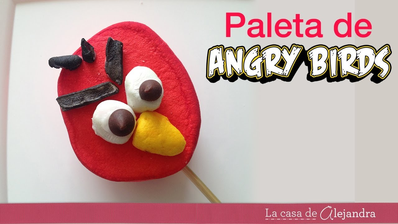 Cómo hacer paletas de Angry Birds de malvavisco - How to make Angry Birds pops