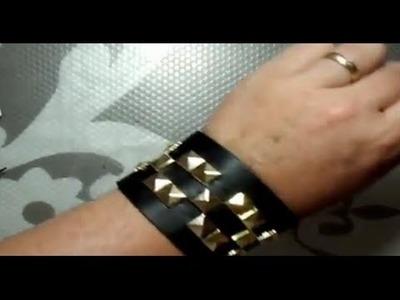 Cómo hacer un brazalete decorado con tachuelas | facilisimo.com