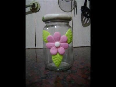 Como hacer un frasco decorado