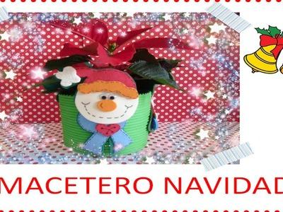 Como hacer un macetero de navidad para niños_Manualidades DIY