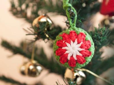 Cómo hacer una bola de ganchillo para el árbol de Navidad | Christmas tree crochet ball