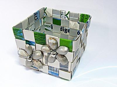 Como hacer una caja con Tetrabrik. Tetrabrick box.