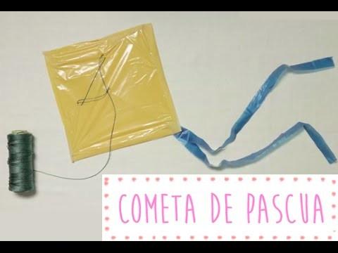 Cómo hacer una cometa fácil con una bolsa de plástico