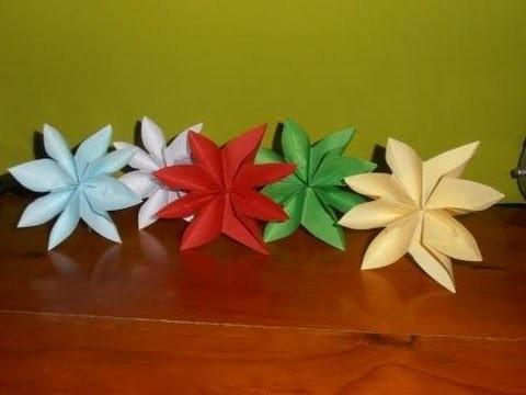 Cómo hacer una flor de pascua de papel