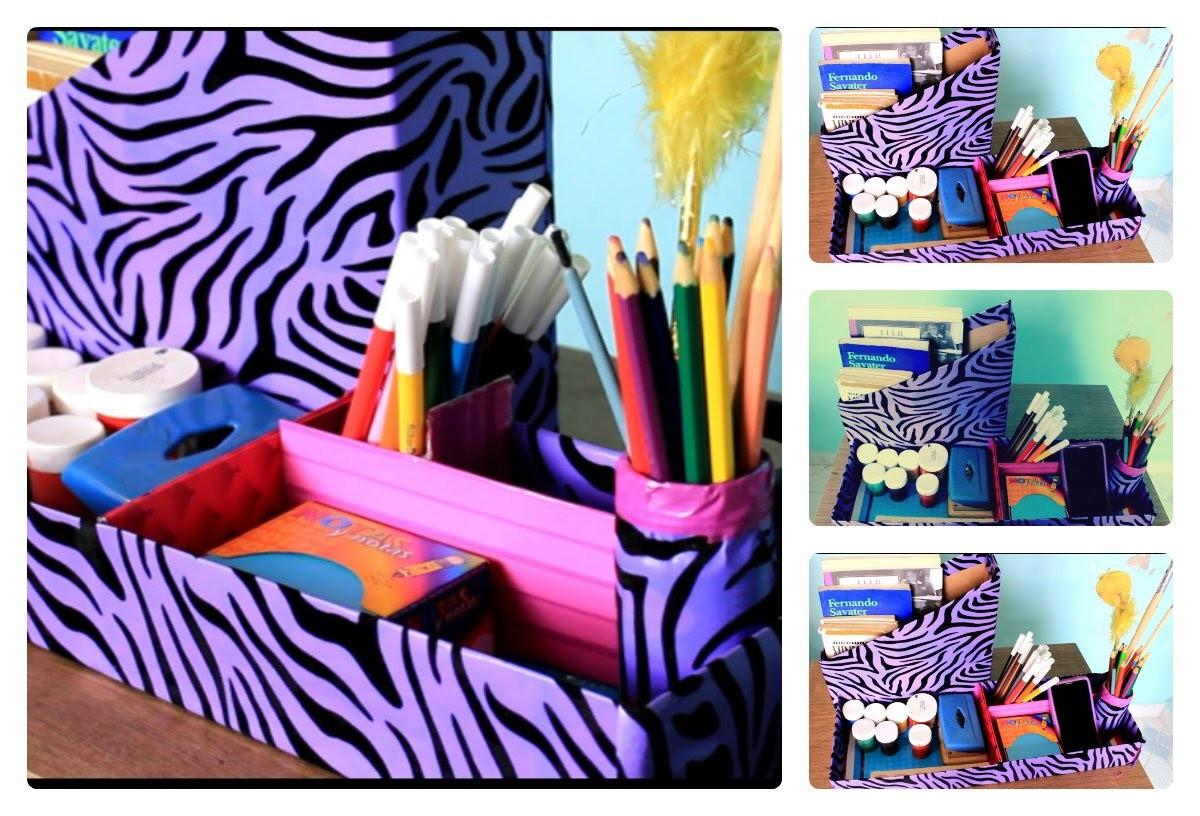 Como organizar tus útiles escolares? - DIY Organizador de Utiles
