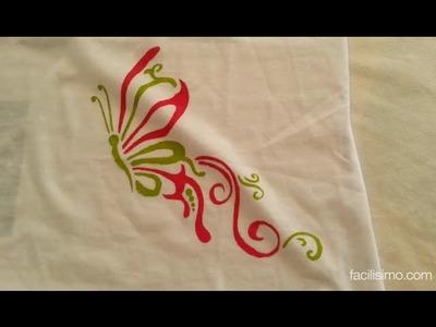 Cómo pintar una camiseta con plantilla | facilisimo.com