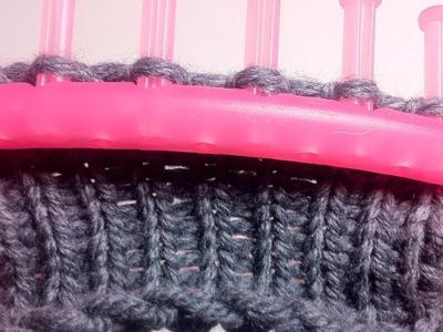 Cómo tejer con telar circular: PUNTO DERECHO