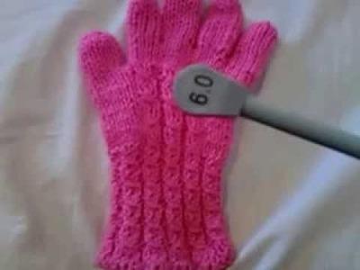 Como tejer guantes para hombre