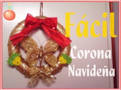 Corona  Navideña.Fácillll :)