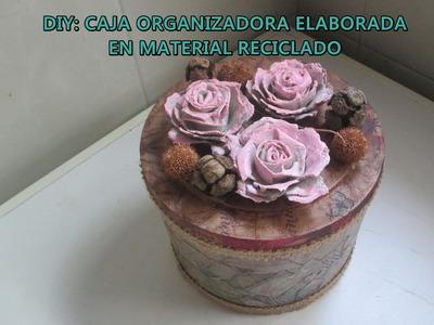 DIY: CAJA ORGANIZADORA ELABORADA EN MATERIALES RECICLADOS