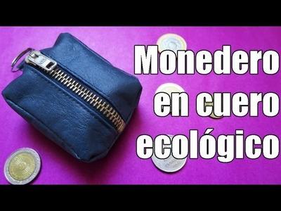 DIY: Monedero en cuero ecológico
