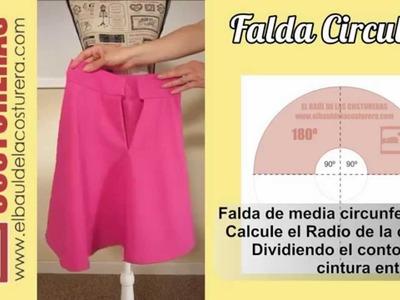 Falda Medio Plato ¿Cómo caen los pliegues?