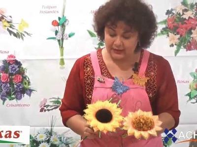 Girasoles Moldes de Flores para hacer Arreglos Florales en Fomi, Goma EVA HD