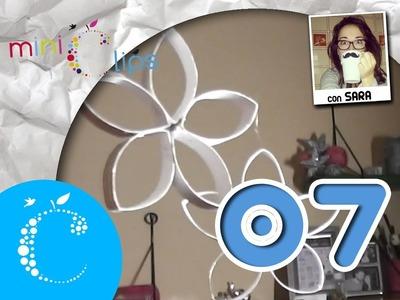 La Eduteca - Miniclip 7: flores decorativas con tubos de papel higiénico